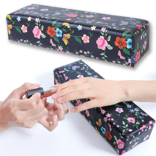 1pcs Soft Hand Rest Cushion Pillow Flowers Perfume Snake Sponge Hand Holder Arm Rests Pillow Manicure Nail Care Tools SAND279