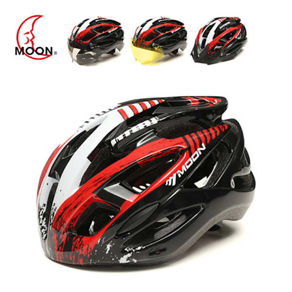 MOON MV88 Cycling Helmet Ultralight Light Breathable Bicycle Helmet For Climbing MTB Protective Cycling With Lens
