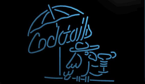 LS1122-b-Cocktails-Parrot-Bar-Pub-Club-NR-Neon-Light-Sign Decor Free Shipping Dropshipping Wholesale 8 colors to choose