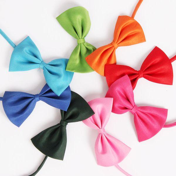 Children Bowties Polyester Pets Bow Ties Butterfly Kids Plain Neckties For Boys Girls Tuxedo Cat Dog Bowties