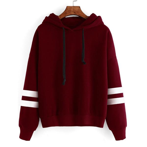 Desconto de outono e inverno das mulheres manga comprida com capuz da camisola feminino solto Casual Hoodies quentes 5 camisolas Jumper Plus Size