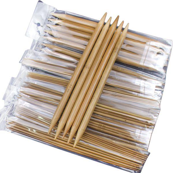 Bamboo Crochet Hooks Carbonized Double Pointed Carbonized Bamboo Knitting Needles Craft Knit Tools 75pcs