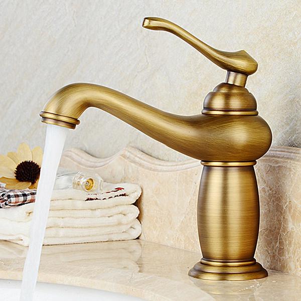Rubinetti per lavabo Rubinetti per lavabo da bagno in ottone anticato