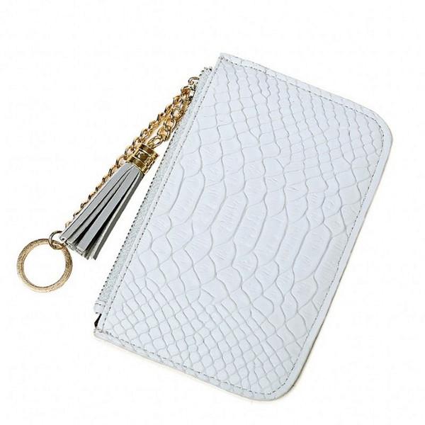 Schlanke Geldbörse Damen Geldbörse Brieftasche Kartenhalter Reißverschluss Schlüsselanhänger Frauen Tasche Pink Cash Karte Paket Student Mädchen Geld Taschen