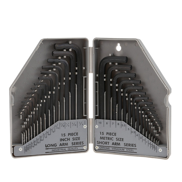 30PCS Socket Head Wrench Hexagonal Tool Set Durable Steel Material Hand Tool Sets For Bicycle Repair Furniture Assembly Free Shipping VB