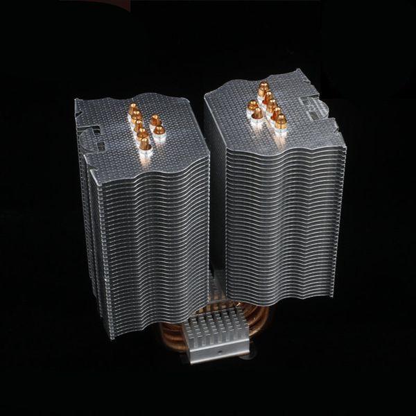 Для платформы Intel AMD 115x 1366 7 медная тепловая труба никелированный компьютер cpu cooler пассивный бесшумный радиатор охлаждения без вентилятора