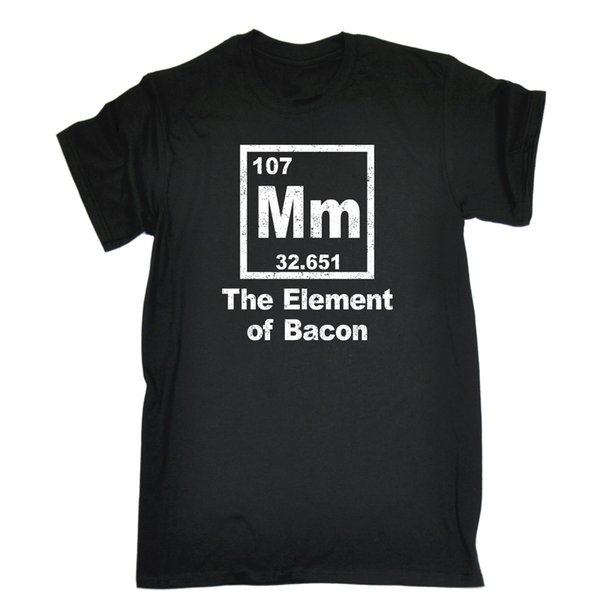 Mm The Of Bacon Periodic Table T Shirt Chef Kitchen Cook Birthday Gift Cool O - Neck Tops T Shirt Gift More Size And Colors