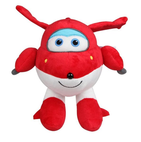 Cute Stuffed Plush Doll Super Wings Airplane Robot Action Figure Collection Gift Kid Toys Transformation for Children Brinquedos