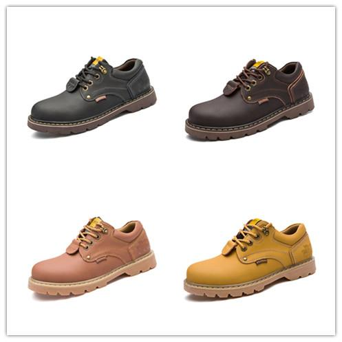 2018 Fashion Men Leather Boots All Seasons Casual Shoes Outdoor Travel Martin Boots Hot Sale Shoes for Men Size 38-44 AK5808