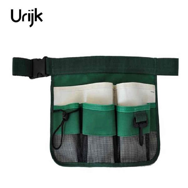 Urijk 1 stück Neue Hohe Qualität Grün Schwarz 600D Oxford Tuch Reflexstreifen Gartengeräte Gürtel Reinigung Tasche Werkzeugtasche 24 cm x 34 cm