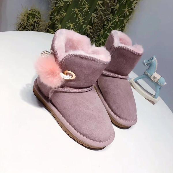 e7b39ed325c89 Noël Nouvelle mode Bottes fourrées One pour enfants Bottes en coton  antidérapantes Épaississent chaussures pour garçons