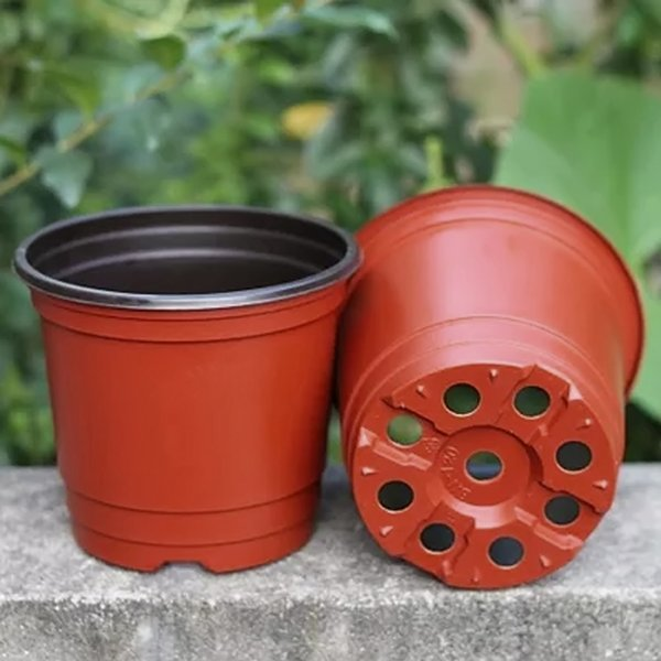 Plastic Flower Pot Planters Garden Plant Nursery Pot macetas Container for Growing Herbs Smaller Annual Vegetables 25Pcs