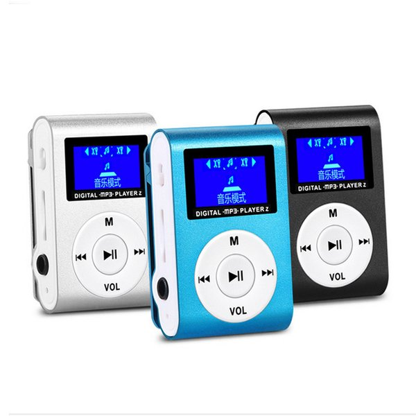 High Quality Protable Digital MP3 Player Walkman Sport Music Play LCD Screen Display Mirco SD/TF Card Music Player Mini Clip