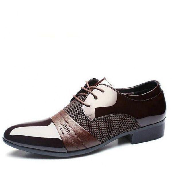 2018 New men's dress leather shoes Fashion Men Wedding Dress Shoes Comfortable Breathable Men's banquet shoes ZY-20