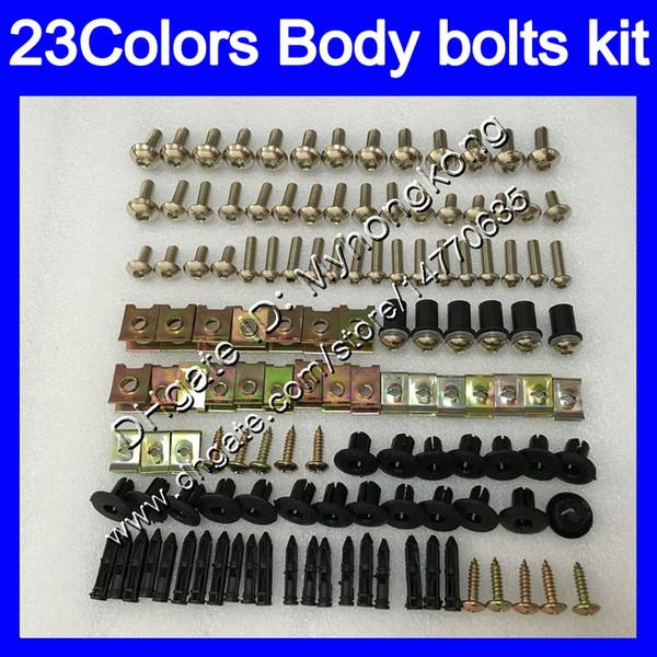 Kit vis complet pour vis de carénage Pour KAWASAKI NINJA ZX12R 00 01 ZX 12 R 00-01 ZX 12R ZX-12R 2000 2001 Corps Ecrous Vis Kit écrou 25Colors