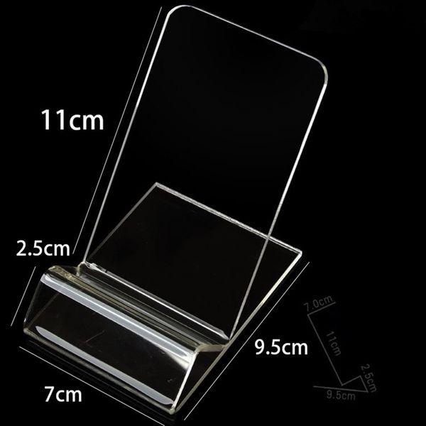 Tamanho grande Acrílico celular stand titular do telefone móvel suporte para iphone 6 polegadas Samsung huawei HTC LG livre DHL