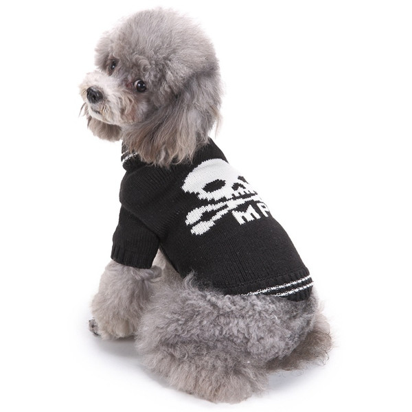 2019 Dog Clothes For Halloween Funny Skull Dog Costume Puppy Sweaters Fall  Winter Crochet Dog Sweater Clothing From Andonzhou, $3.31