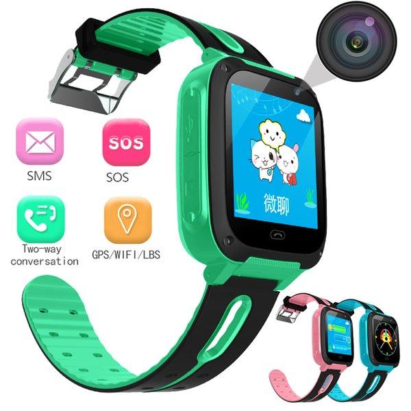 BANGWEI Anti perso OLED GPS Tracker SOS Smart monitoraggio Posizionamento Kids Smart Phone Watch compatibile con IOS Android