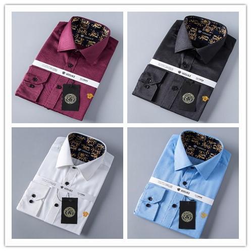 2018 hombres de la marca de negocios camisa informal de los hombres de manga larga a rayas slim fit masculina social masculina camisetas nueva moda hombre comprobado camisa # 8912