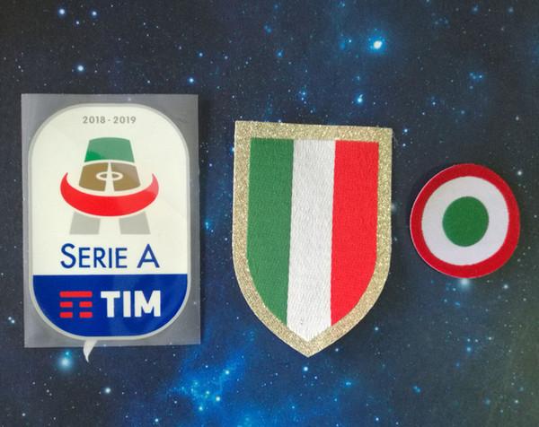 футбольный патч Силиконовая Италия Calcio красная коппа Italia Circle Scudetto Scudetto 18 19 Кубок Италии Серия А патч