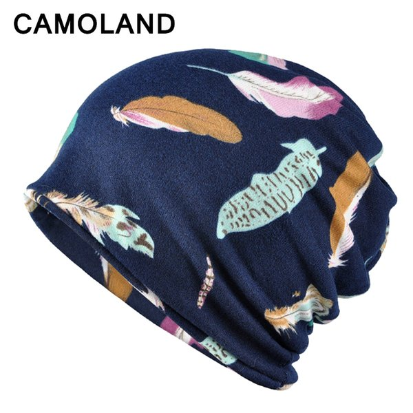2018 New HAT AND SCARF Slouchy Beanie Knitted Winter Autumn Cap Turban Hat for Women Men Casual Stretch Sports Baggy Skullies