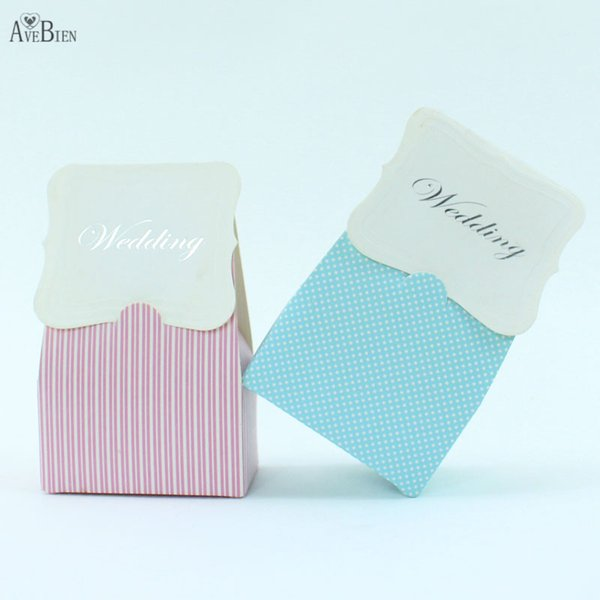 AVEBIEN 20pcs Fashion Wedding Paper Candy Boxes Party Decoration Paper Craft Decorative Flower Sweet Favors Gift Box for Guests