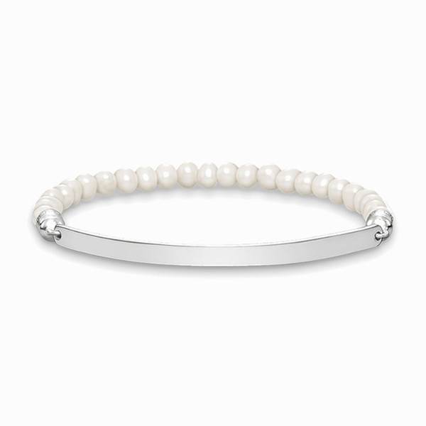 6MM Freshwater Pearl Beads Strand Bracelets Silver Fashion Jewelry Accessories for Women Men Gift 2018 Brand New