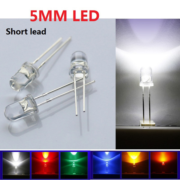 LED Diode 6 Color 1000pcs/lot Through Hole 5mm Straw Hat Ultra Bright LED Diode Kit Led 5mm Straw Hat LEDs Light Diodes