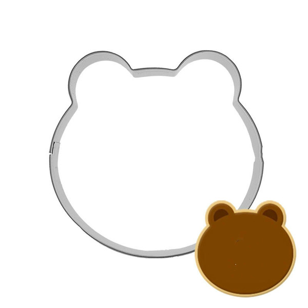 Bear Head Metal Cookie Cutter Sugarcraft Candy Biscuit Making Molds Form For Cookies DIY Alloy Biscuit Mould
