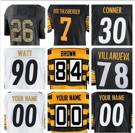 newest 3b410 66694 2018 2018 Custom Pittsburgh T.J. Watt Steeler Jersey Alejandro Villanueva  Ryan Shazier Salute To Service Vapor Authentic Custom Shirts Jersey 4xl  From ...