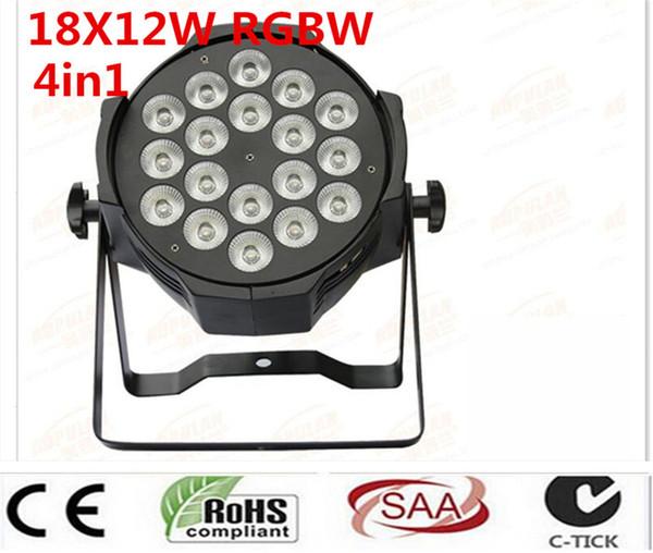 8pcs/lot, LED par 18x12W RGBW 4in1 Quad LED Par Can Par64 led spotlight dj projector wash lighting stage light light