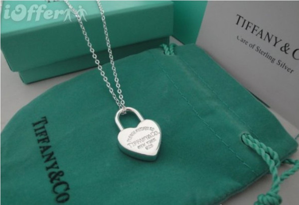 20pcs lot sale hot 2019 tiffany925 silver sterling Silver 1MM Box Chain Necklace for Pendants