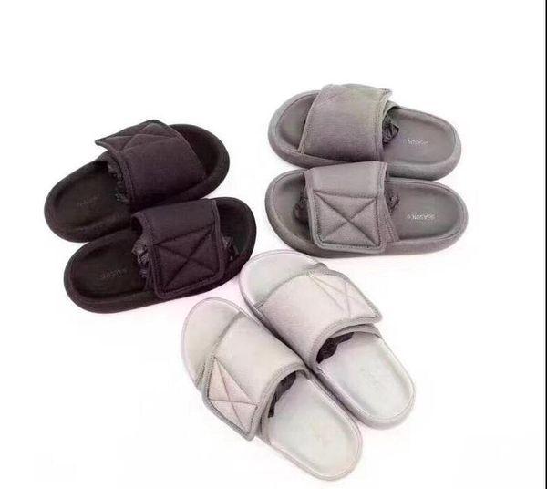 Kanye Season 6 Nylon Waterproof Slippers Luxury Vintage Fashion Men Women Flip Flops Sandal Classic Summer Indoor Outdoor Slippers HFYMXZ035