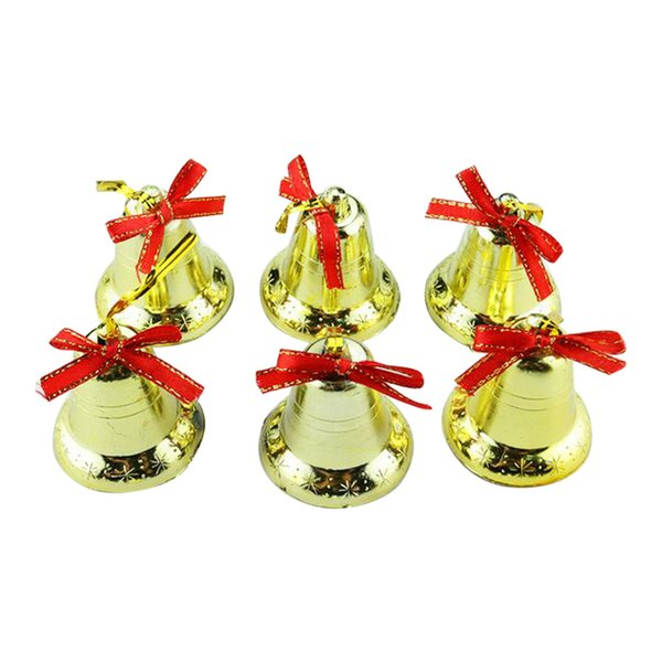 2019 Golden Bells Christmas Tree Pendant Hanging Ornaments Golden Bell Decoration Party Decor for Home Festival Party drop c122