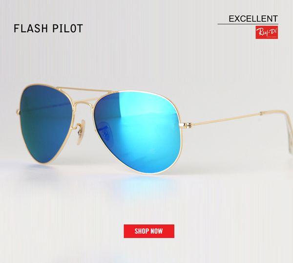 new Luxury Classic Brand men for women driving glass flash lens Aviation mercury sunglasses 58mm 62 Mirror oculos Gafas Accessories
