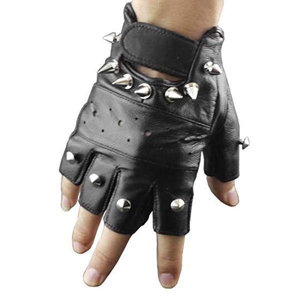 Guanti in pelle da uomo Guanti senza dita antiscivolo in ecopelle antiscivolo Guanti sportivi antiscivolo