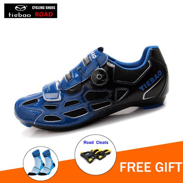 TIEBAO Erkekler yol Bisiklet Ayakkabı Nefes Açık Profesyonel Yol yarış Bisiklet Ayakkabı spor sneakers ciclismo scarpe ayakkabı