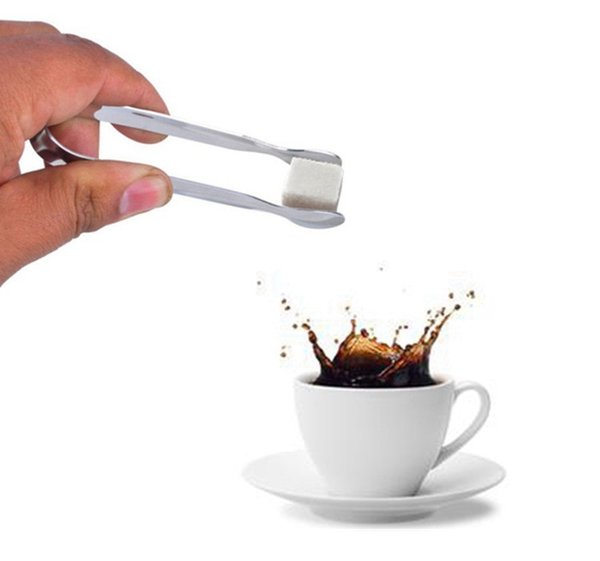 Mini Ice Clamp Stainless Steel Coffee Sugar Tongs Tool Bar Barbecue BBQ Clip Kitchen Accessories Portable
