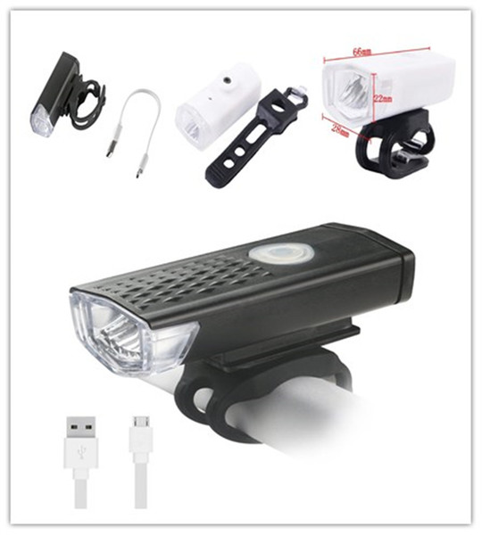 best selling 300 LM Super Bright LED Bike Light Cycling Headlamp 3 Mode USB Rechargeable LED Bicycle Light Flashlight