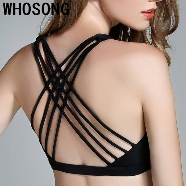 Women Push Up Sexy Sports Bra Cropped Top Cross Wide Elastic Straps Fitness Yoga Bra Running Workout clothes XL