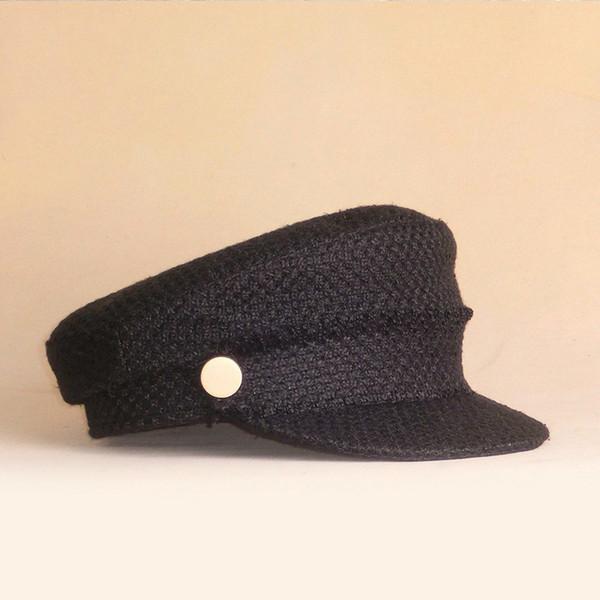 Cappello berretto da donna 2018 nuovi arrivi berretto blu scuro per le donne marchio di moda vintage boina autunno inverno berretto newsboy s / m / l taglia