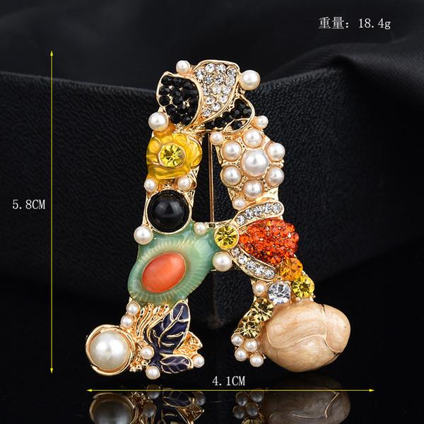 2018 nuovi 28 stili popcorn lettera pin spilla Designer spille distintivo metallo smalto pin broche donne gioielli famosi di lusso decorazione del partito