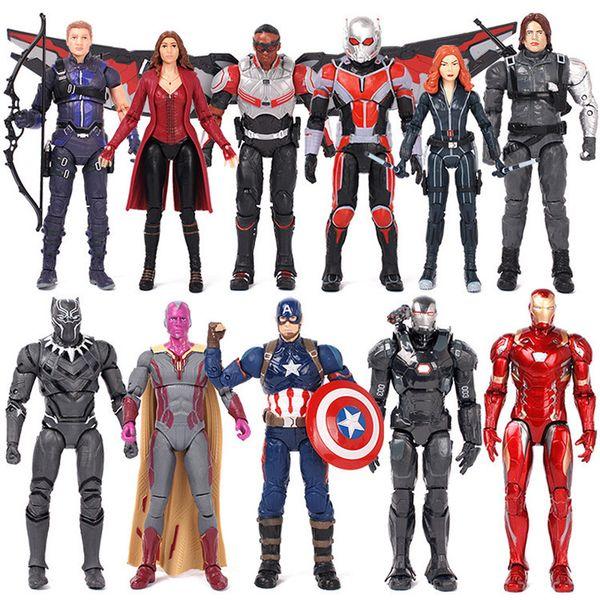 Captain America Ironman Black Panther Avengers Modell spielzeug Action Figure Super Hero Cartoon Sammlerstück Spielzeug T3I0127