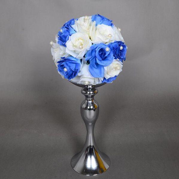 Cheap Sales !!Wedding Candle Holder 30/40/50cm silver/gold Romantic Standing Wedding Candlestick Wedding Flower Stands Silver Candelabra