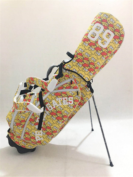 WOTUFLY Pearly Gates Cartoon Golf Stand Bag With Rain Cover Good Quality Outdoor Sports Golf Rack Bag 3Colors For Man Women