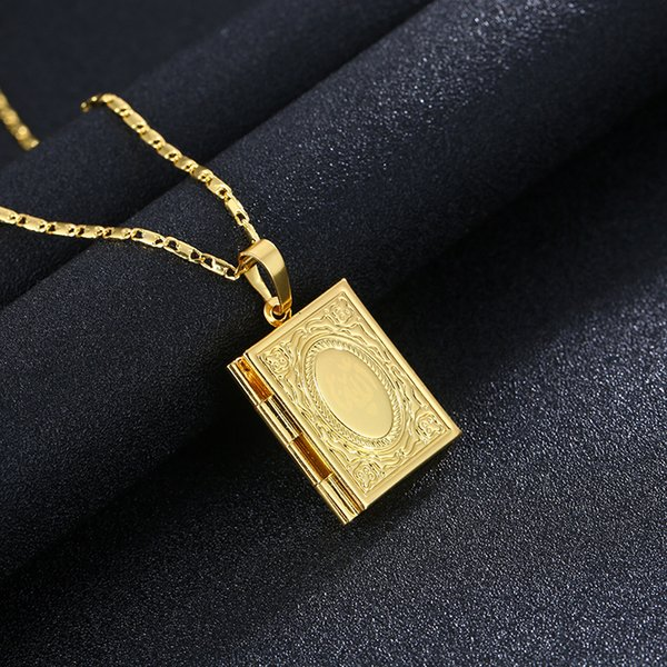 Hot sale vogue new product exquisite gold plated totem square placed photo male / female gold silver fashion necklace sweater chain A234#