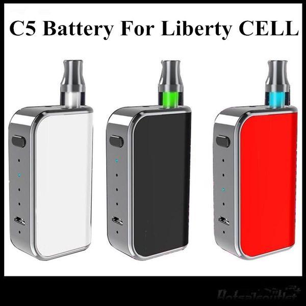 Nuevo diseño de Komodo C5 Box Mod 400 mAh Precalentamiento de la batería para los cartuchos Amigo Liberty V1 V5 V9 X5 A3 Bueno como Vmod sin DHL