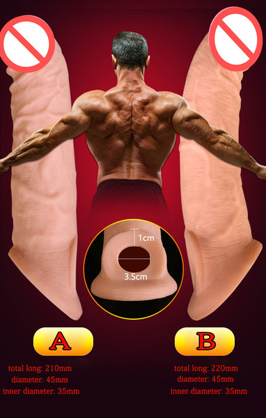 best selling Super Soft Realistic Silicone Penis Extender Sleeve Cock Enlargement Enhancer Reusable Delay Gonobolia Dick Ring Adult Sex Toy For Men 330