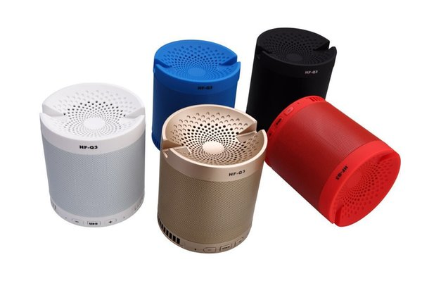 HF-Q3 Bluetooth speakers Multi functional Wireless Portable Mini Bluetooth Speaker Subwoofer with Mic support mobile phone bracket