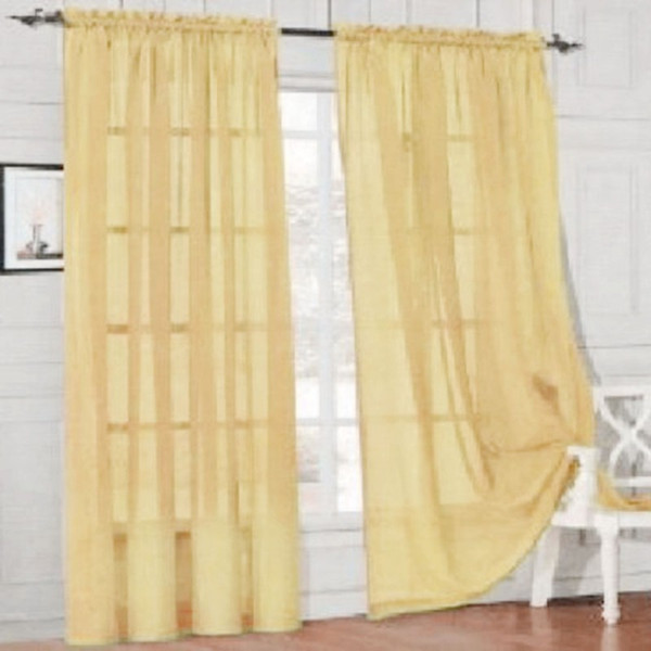 95cm*200cm Kitchen Tulle Curtains Translucidus Modern Home Window Decoration White Sheer Voile Curtains for Living Room